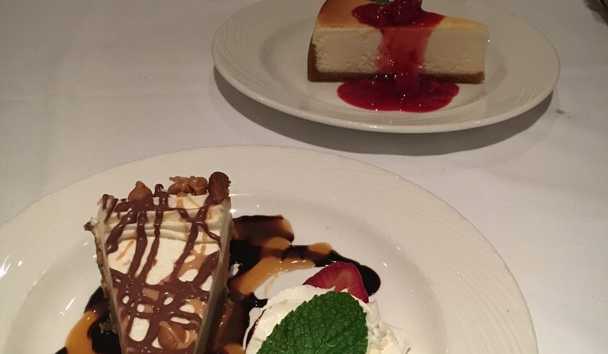 Dessert course at District restaurant The Palm.  (Eric Althoff/The Washington Times)