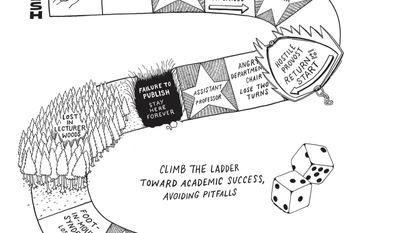 """This undated photo provided by The University of Chicago Press shows an illustration from a page of the satirical adult coloring book """"Doodling for Academics"""" by author Julie Schumacher, a professor at the University of Minnesota. Schumacher won the Thurber Prize for American Humor in 2015 for her comic novel, """"Dear Committee Members."""" (Lauren Nassef/The University of Chicago Press via AP)"""