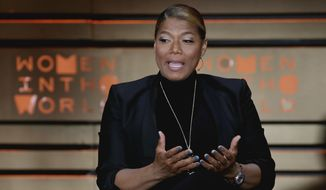Queen Latifah speaks during the Women in the World Summit at Lincoln Center, April 6, 2017. (AP Photo/Richard Drew) ** FILE **