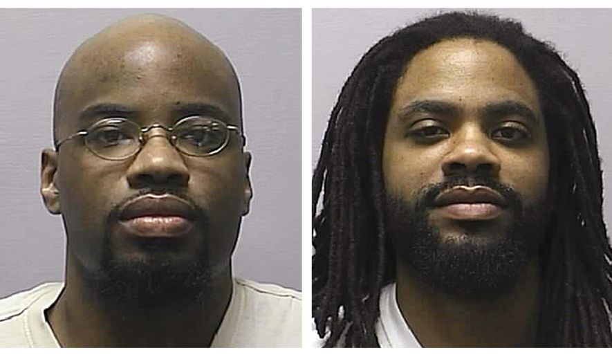 "FILE - This combination of 2013 file photos provided by the Kansas Department of Corrections shows Reginald Carr, left, and Jonathan Carr. The Kansas Supreme Court is scheduled to hear arguments from attorneys Thursday, May 4, 2017, considering for a second time whether to spare the two brothers from being executed for four murders in December 2000 in what became known as ""the Wichita massacre"" after earlier rulings in the men's favor sparked a political backlash. (Kansas Department of Corrections via AP, File)"