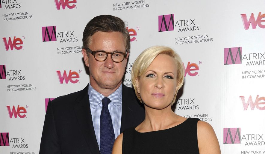 """In this Monday April 22, 2013, file photo, MSNBC's """"Morning Joe"""" co-hosts Joe Scarborough and Mika Brzezinski, right, attend the 2013 Matrix New York Women in Communications Awards at the Waldorf-Astoria Hotel in New York. MSNBC confirmed Thursday, May 4, 2017, that the """"Morning Joe"""" co-hosts are engaged. (Photo by Evan Agostini/Invision/AP, File)"""
