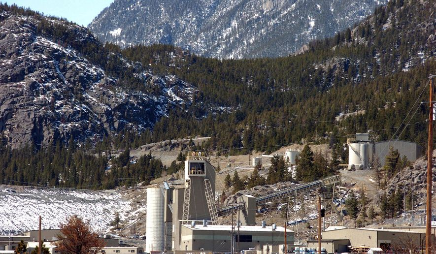 FILE - This May 2, 2013 file photo shows the Stillwater Mining Co. complex, the only platinum and palladium mine in the United States, near Nye, Mont. South Africa's Sibanye Gold Limited completed its $2.2 billion purchase of Littleton, Colorado-based Stillwater on Thursday, May 4, 2017, positioning it as the world's fourth-largest producer of precious metals. (AP Photo/Matthew Brown, File)