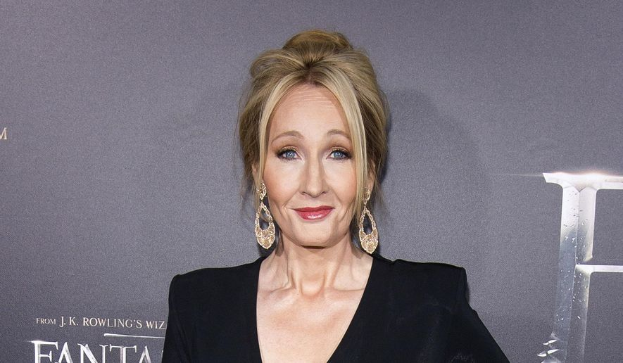 "In this Nov. 10, 2016, file photo, J. K. Rowling attends the world premiere of ""Fantastic Beasts and Where To Find Them"" in New York. The stage play ""Harry Potter and the Cursed Child"" will come to Broadway's The Lyric Theatre in the spring of 2018, producers said Thursday, May 4, 2017, with an opening set for April. The play recently won nine Olivier Awards in London, including best new play. (Photo by Charles Sykes/Invision/AP, File)"