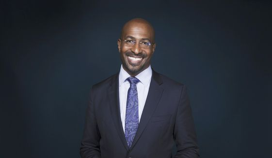 "In this April 28, 2017, file photo, Van Jones, host of ""The Messy Truth with Van Jones"" appears after an interview in New York. Mr. Jones was shown in a June 2017 Project Veritas video saying Russia's role in the 2016 U.S. election was a ""nothing-burger"" and a poor use of Democrats time absent an unlikely ""smoking gun"" to come of the matter. ( Photo by Taylor Jewell/Invision/AP) **FILE**"
