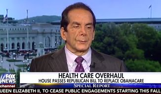Conservative commentator Charles Krauthammer predicts the U.S. will have a single-payer health care within seven years. (Fox News screenshot)