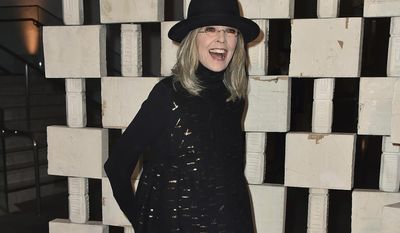FILE - In this Oct. 10, 2015 file photo, Diane Keaton arrives at the 13th Annual Gala in the Garden at the Hammer Museum, in Los Angeles. Keaton will receive the American Film Institute's highest honor next month. AFI announced Friday, May 5, 2017, that Keaton will accept its 45th Life Achievement Award during a gala tribute in Los Angeles on June 8. (Photo by Jordan Strauss/Invision/AP, File)