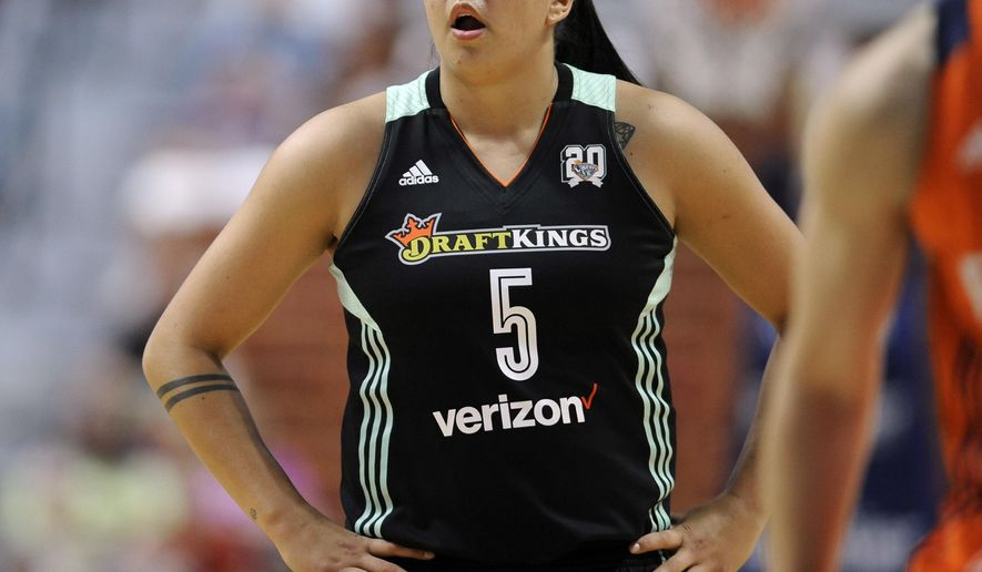 "FILE - In this June 16, 2016, file photo, New York Liberty's Shoni Schimmel watches during the first half of a WNBA basketball game in Uncasville, Conn. Schimmel will take the upcoming WNBA season off to deal with ""personal issues"" and hopes to return next year, the Liberty and Schimmel said in a joint statement on Saturday, May 6, 2017. (AP Photo/Jessica Hill, File)"