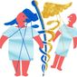 Illustration on the unfairness of paying for preexisting conditions by Alexander Hunter/The Washington Times