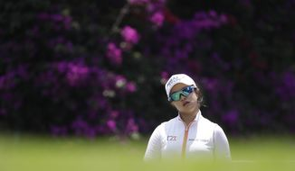 Sei Young Kim of South Korea prepares to tee off on the 6th hole during the final of the Lorena Ochoa Invitational at Mexico Golf Club in Mexico City, Sunday, May 7, 2017. The invitational, the tenth of the 2017 LPGA tour, is the tour's first Match Play event since 2012. (AP Photo/Rebecca Blackwell)