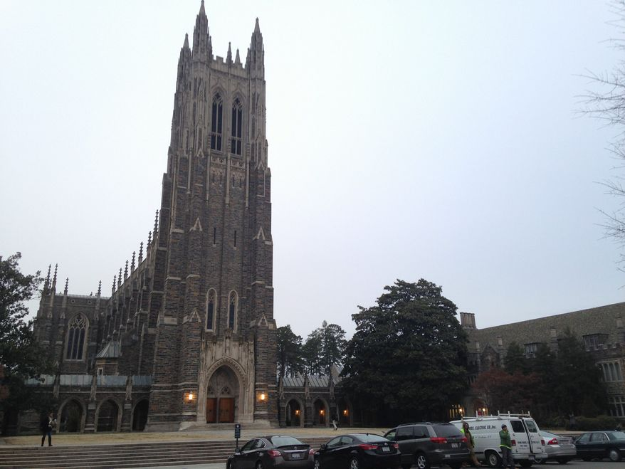 """""""Being against diversity isn't an issue of academic freedom. It is academic malpractice. If you can't abide by Duke's policies, you shouldn't work for Duke,"""" Valerie Cooper, an associate professor at Duke Divinity School, said on Facebook earlier this month. (Associated Press)"""
