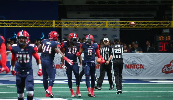 The Washington Valor, part of a five-team mostly East Coast-based Arena Football League, are 1-2 in their first season going into Saturday's home game with Tampa Bay. (Ned Dishman) ** FILE **