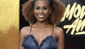"FILE - In this May 7, 2017 file photo, actress Issa Rae arrives at the MTV Movie and TV Awards in Los Angeles. Rae is creator, writer and star of HBO's ""Insecure,"" returning for a second season on July 23. (Photo by Jordan Strauss/Invision/AP, File)"