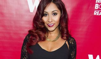 "FILE - In this May 29, 2014, file photo, Nicole ""Snooki"" Polizzi attends WE tv's ""Marriage Boot Camp: Reality Stars"" party in New York. New Jersey Gov. Chris Christie has signed legislation Monday, May 8, 2017, inspired by the former ""Jersey Shore"" star Polizzi that limits how much state universities can pay speakers. (Photo by Charles Sykes/Invision/AP, File)"