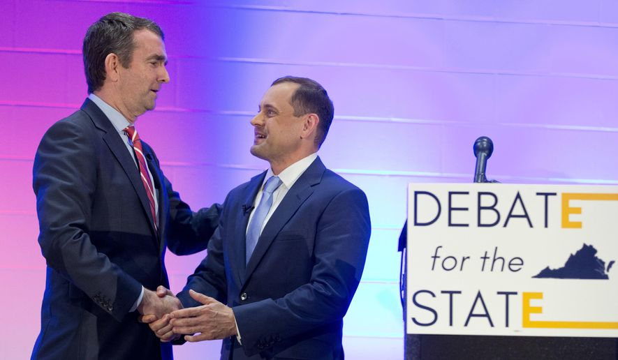 Ralph Northam (left) is the establishment choice in the Democratic race for Virginia governor, while Tom Perriello appeals to Bernard Sanders idealists. (Associated Press/File)