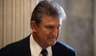 Sen. Joe Manchin III, West Virginia Democrat, faces a tough re-election bid next year. Republican candidates have waged a nasty battle to win the party primary, and the race has room to grow. (Associated Press/File)