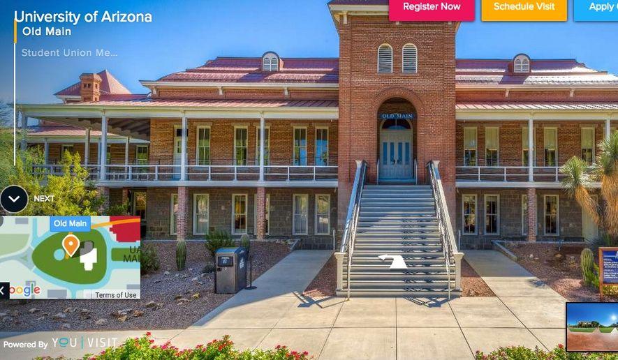 The University of Arizona is a public university. (Image: Screen grab from http://www.arizona.edu/)