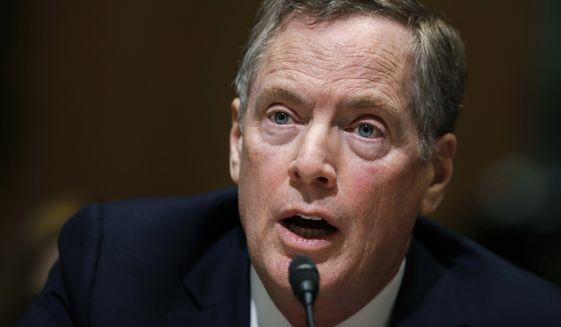 U.S. Trade Representative Robert Lighthizer gave his first public testimony on President Trump's promised radical shift in U.S. trade policy in a packed Senate Finance Committee hearing Wednesday. (Associated Press/File)