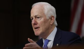 In this March 21, 2017 file photo, Senate Majority Whip John Cornyn of Texas speaks on Capitol Hill in Washington. (AP Photo/Pablo Martinez Monsivais, File)