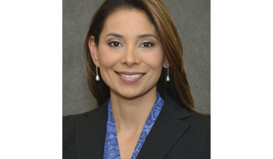 FILE- This undated file photo provided by Massachusetts Eye and Ear shows Dr. Lina Bolanos, found dead with her fiancee Dr. Richard Field on Friday, May 5, 2017, by police at his condo in the Macallen Building in South Boston. Church services are set for Friday, May 12, for the two engaged doctors killed in their luxury penthouse condominium.  Thirty-year-old Bampumim Teixeira has been charged with two counts of murder. (Garyfallia Pagonis/Massachusetts Eye and Ear via AP, File)