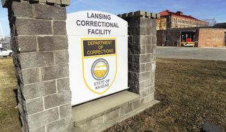 This Feb. 2, 2017, file photo, shows the exterior of the Lansing Correctional Center in Lansing, Kan. Kansas Corrections Secretary Joe Norwood spoke to a legislative committee May 9, 2017, about the department's plan to build a new state prison in Lansing to replace the existing one there. (Mark Rountree/The Leavenworth Times via AP, File)