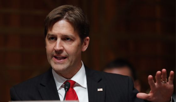 Senate Judiciary Committee member Ben Sasse, Nebraska Republican. (Associated Press) ** FILE **