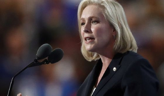 Sen. Kirsten Gillibrand, New York Democrat (Associated Press) **FILE**
