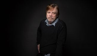 """The rate of fake autographs is in the 50 to 90 percentile. So what I'm saying to you is that there are more fake autographs than real ones,"" says ""Star Wars"" icon Mark Hamill. (Associated Press/File)"