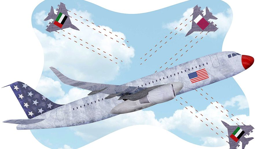 Unfair Competition Illustration by Greg Groesch/The Washington Times