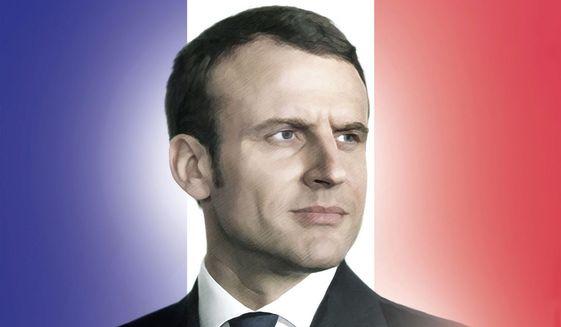 Illustration of Emmanuel Macron by M. Ryder/Tribune Content Agency