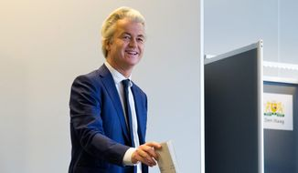 Disagreements over immigration may vindicate Geert Wilders, whose party suffered election losses. (Associated Press)