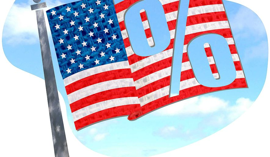 Over-Taxed Flag Illustration by Greg Groesch/The Washington Times