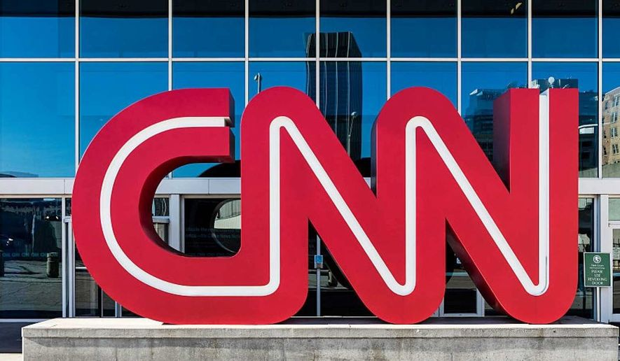 "CNN is ""obsessed"" with President Trump, and not in a good way says a new report from conservative press watchdog, Newsbusters.org. (Associated Press) ** FILE **"