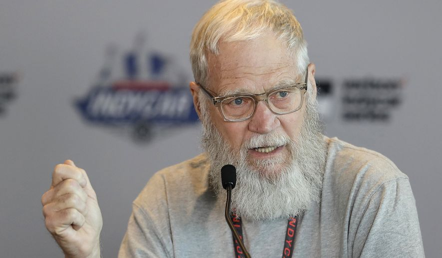 In this May 12, 2017 file photo, David Letterman speaks during a news conference in Indianapolis. (AP Photo/Darron Cummings, File)