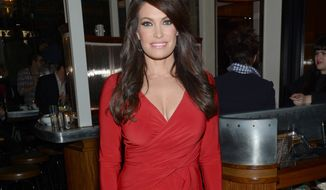 "FILE - In this Oct. 14, 2014 file photo, Kimberly Guilfoyle arrives at the New York special screening of ""Fury,"" in New York. Fox News host Guilfoyle said in a Monday, May 15, 2017 interview with the Mercury News in San Jose, Calif., she is in conversations with the Trump administration about replacing Sean Spicer as White House press secretary. (Photo by Evan Agostini/Invision/AP, File)"