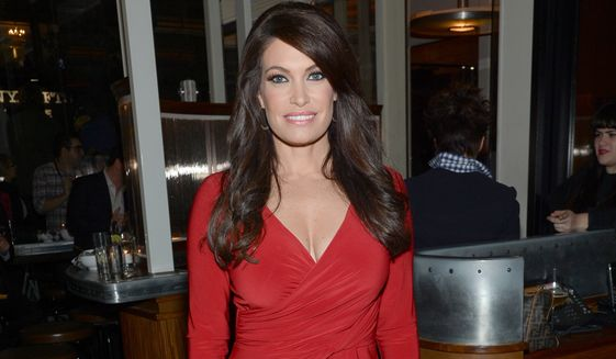 "In this Oct. 14, 2014, file photo, Kimberly Guilfoyle arrives at the New York special screening of ""Fury,"" in New York. Fox News host Guilfoyle said in a Monday, May 15, 2017, interview with the Mercury News in San Jose, Calif., that she is in conversations with the Trump administration about replacing Sean Spicer as White House press secretary. (Photo by Evan Agostini/Invision/AP, File)"