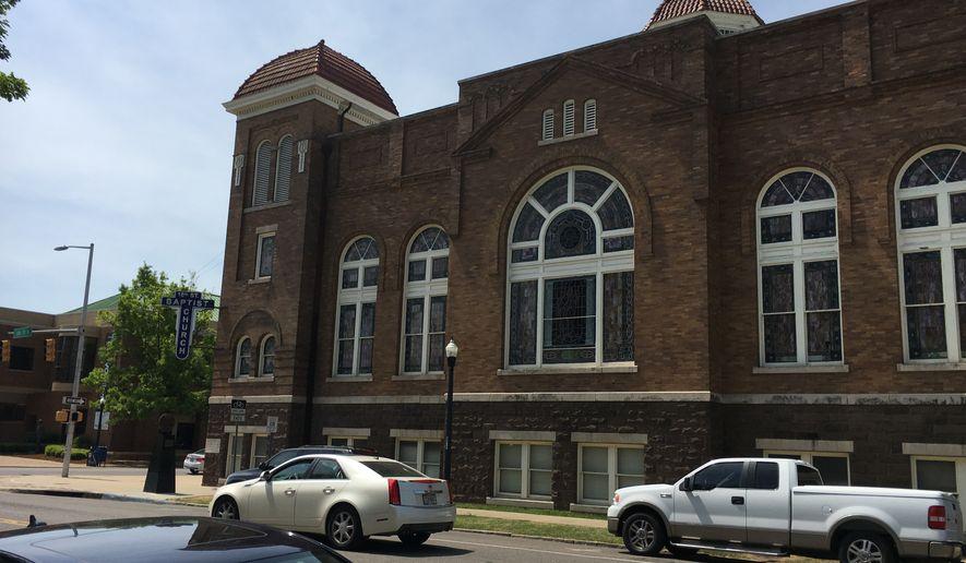The facade of the 16th Street Baptist Church in Birmingham, Alabama.  (Eric Althoff/The Washington Times)