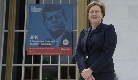 Kennedy Center President Deborah Rutter at the Kennedy Center in Washington, Friday, May 5, 2017. (AP Photo/Susan Walsh) ** FILE **