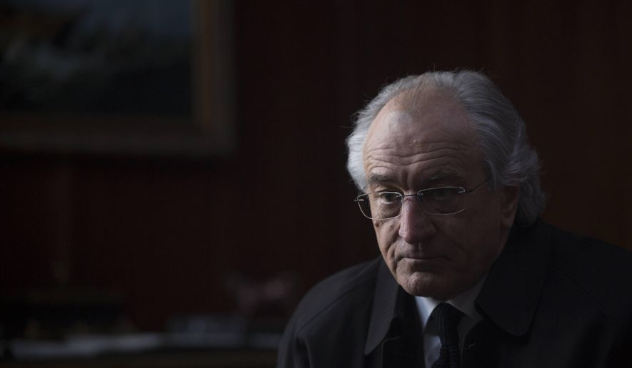 "This image released by HBO shows Robert De Niro portraying Bernie Madoff in ""The Wizard of Lies,"" premiering Saturday at 8 p.m. ET on HBO. (Craig Blankenhorn/HBO via AP)"