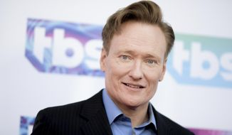 """In this May 24, 2016, photo, Conan O'Brien attends """"A Night Out With"""" FYC Event held at The Theatre at Ace Hotel in Los Angeles. (Photo by Richard Shotwell/Invision/AP) **FILE**"""