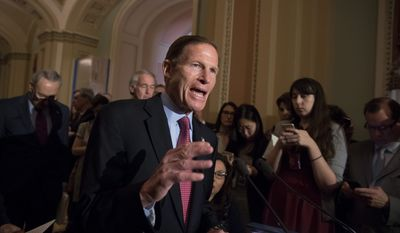 sober account: Sen. Richard Blumenthal said the special counsel's criminal investigation is serious and could result in obstruction of justice charges.
