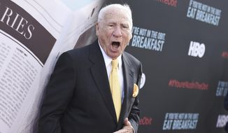 "Mel Brooks attends the LA Premiere of ""If You're Not In The Obit, Eat Breakfast"" at the Samuel Goldwyn Theater on Wednesday, May 17, 2017, in Beverly Hills, Calif. (Photo by Richard Shotwell/Invision/AP) ** FILE **"