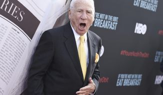 """Mel Brooks attends the LA Premiere of """"If You're Not In The Obit, Eat Breakfast"""" at the Samuel Goldwyn Theater on Wednesday, May 17, 2017, in Beverly Hills, Calif. (Photo by Richard Shotwell/Invision/AP)"""