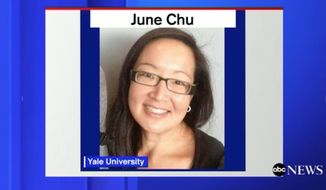 "June Chu, the dean of Pierson College at Yale University has been placed on leave after calling people ""white trash"" and ""low class"" in a series of insensitive Yelp reviews. (ABC News)"