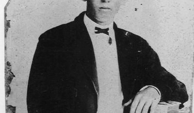FILE - This undated file photo is thought to be an image of famed gunslinger Billy the Kid, William Bonney, near the age of 18. A newly discovered document, dated July 9, 1908 and found in southern New Mexico is shedding more light on the shooting death of Pat Garrett, the Old West lawman who gained fame for killing Billy the Kid. (AP Photo, File)