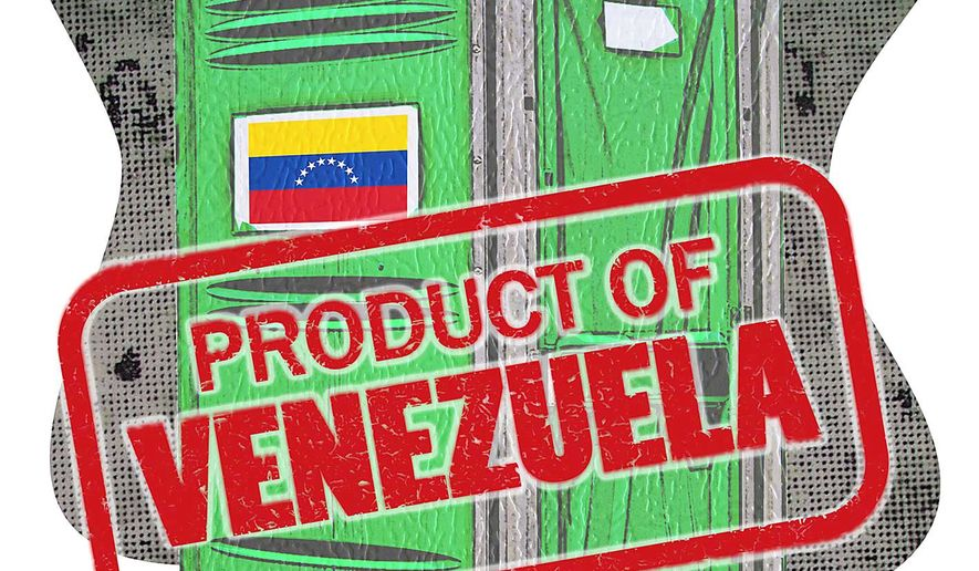 Product of Venezuela Illustration by Greg Groesch/The Washington Times