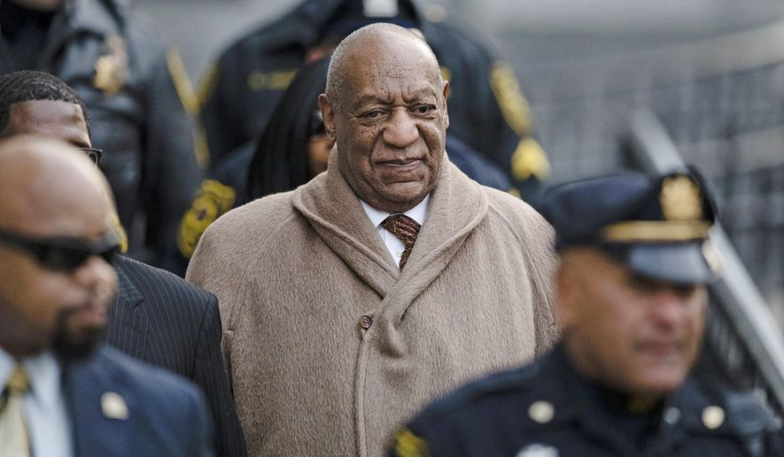 In this Dec. 13, 2016, file photo, Bill Cosby departs after a pretrial hearing in his sexual assault case at the Montgomery County Courthouse in Norristown, Pa. (AP Photo/Matt Rourke, File)