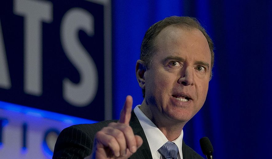 U.S. Rep. Adam Schiff, the ranking Democrat on the House Intelligence Committee addresses the California Democratic Party convention, Saturday, May 20, 2017, in Sacramento, Calif. (AP Photo/Rich Pedroncelli) ** FILE **