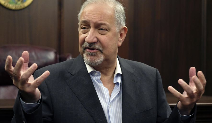 "FILE - In this Sept. 2, 2016, file photo, attorney Mark Geragos talks to the media during a news conference in downtown Los Angeles. Litigation is piling up like bonfire kindling against organizers of the Fyre Festival that flamed out in a fiasco in April 2017 in the Bahamas, and Geragos says the event billed as ""the cultural experience of the decade"" was a ""get-rich-quick scam."" (AP Photo/Richard Vogel, File)"