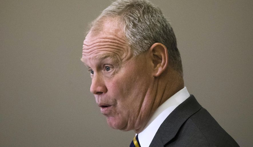 Speaker of the Pennsylvania House of Representatives, Rep. Mike Turzai, R-Allegheny, speaks during the Pennsylvania Press Club luncheon in Harrisburg, Pa., Monday, May 22, 2017. (AP Photo/Matt Rourke)