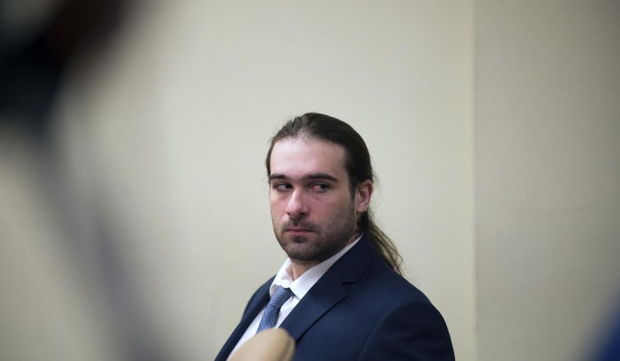 David Creato appears in court during his trial Tuesday, May 23, 2017, in Camden, N.J. Creato is accused of killing his 3-year-old son in October 2015.  ( Joe Lamberti/Camden Courier-Post via AP, Pool)